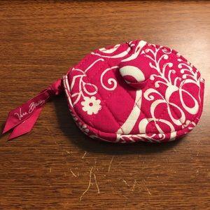 Vera Bradley twirly bird pink coin purse